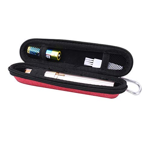 Aenllosi Hard Carrying Case for Finishing Touch Flawless Brows Eyebrow Hair Remover (red)