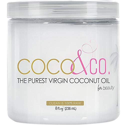 COCO & CO. Organic Pure Extra Virgin Coconut Oil for Hair & Skin, Beauty Grade (8 Fl Oz) (Best Face Mask In The Philippines)