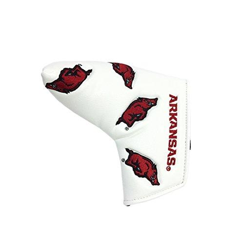- PRG Americas NCAA Arkansas Razorbacks Blade Putter Cover, White