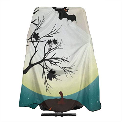 Halloween Pumpkin Cats Barber Cape for All Perfect Salon Apron for Hair Treatment - Cutting/Coloring/Perming - All Shampoo Chemical Proof Hairdresser Large Size]()