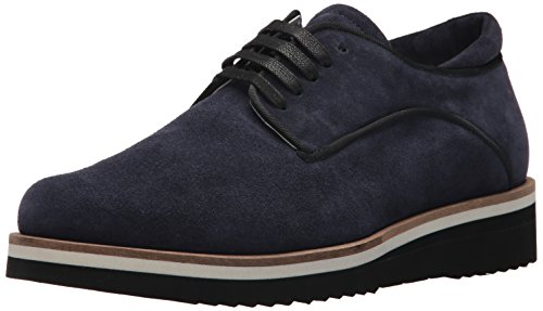 A|X Armani Exchange Men's Half Lace Low Top with Side Stripe Sneaker, Navy, 10 M US