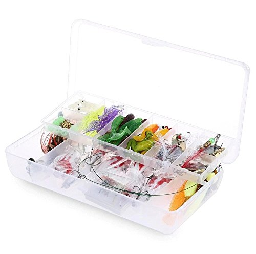 [Fishing Lure Set Kit Lots With Dual Layer Tackle Box For Saltwater or Freshwater Fishing Including: Crankbaits, Poppers, Fishing Hooks, Topwater Lures, Plastic Worms, And MORE] (Fish Hula Popper)