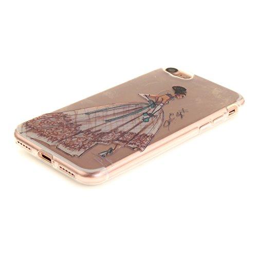 MOONCASE iPhone 7 Hülle Case,Slim Handyhülle Schutzhülle Rutschfestem TPU Soft Backcover Bumper Case für iPhone iPhone 7 TX07
