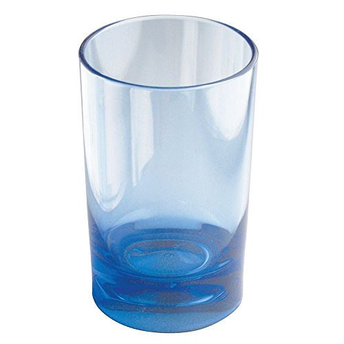 UPC 081492553212, InterDesign Eva Tumbler Cup for Bathroom Vanity Countertops - Ocean Blue