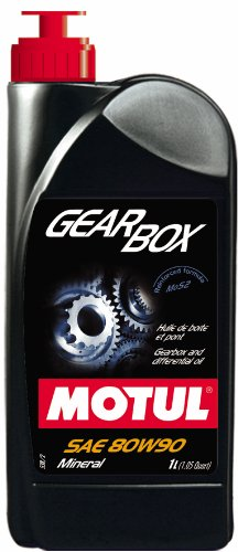 (Motul 31721L Gearbox 80W-90 Molybdenum Bisulphide (MoS2) Reinforced Extreme Pressure Gearbox and Differential Lubricant - 1 Liter)