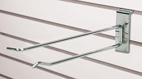 Case of 100 New Retails Chrome Slatwall Scanner Hook 4 Inch Long