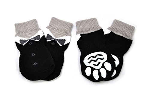 Posch-Anti-Slip-Knit-Socks-for-pets-with-Traction-Soles-for-Indoor-Wear-Slip-On-Paw-Protectors