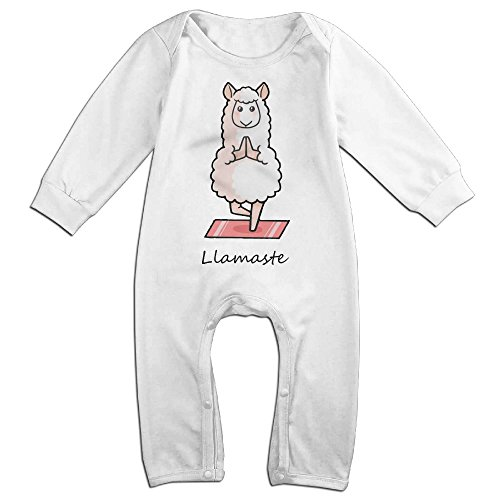 ZhoYHHeng Llamaste Yoga Llama Boy's & Girl's Long Sleeve Jumpsuit Outfits White
