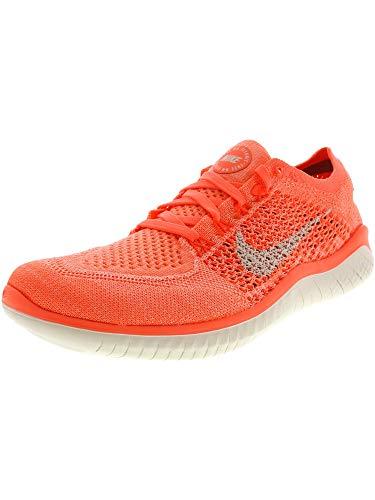 Nike Womens Free Rn Flyknit 2018 Low Top Lace Up Running, Orange, Size 7.5 (Orange Nike Shoes Women)
