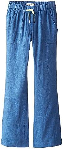 Roxy Big Girls' Beach Comber Full Length Linen Pant, Chambray, 10