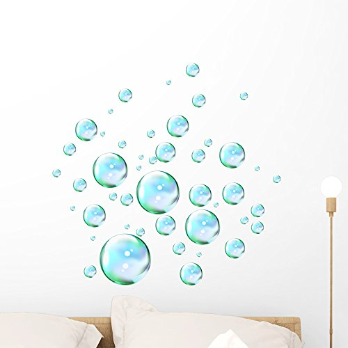 Wallmonkeys Liquid Bubbles Wall Decal Peel and Stick Graphic WM230841 (24 in H x 23 in W) (Decor Wall Bubbles)