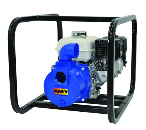 "AMT Pump 316F-95 Engine Driven Dredging Pump with Honda GX160 OHV, Cast Iron, 5 HP, 2"" NPT Female Suction & Discharge Ports"