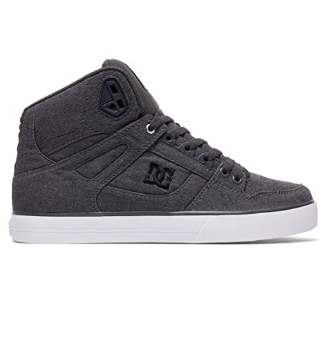 DC Mens Spartan High WC Shoes, Grey/Grey/White, 13D