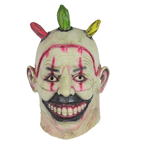 [Monstleo Latex Scary Clown Mask American Horror Story-Freak Show Twisty Clown Mask] (Twisty The Clown Costume Mask)