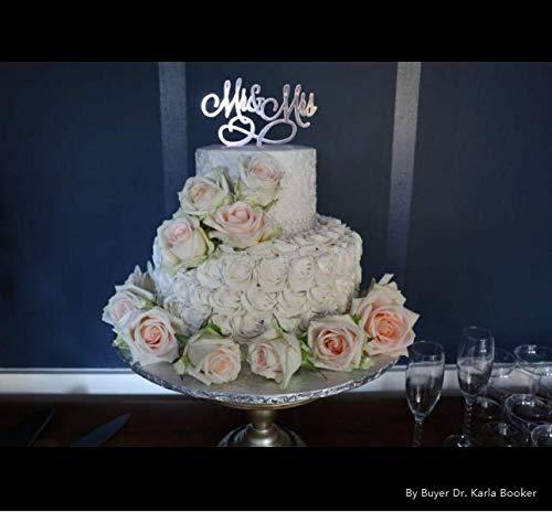Rose Gold Mr & Mrs Cake Topper Wedding Anniversary Engagement Bridal Shower Cake Decoration