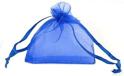 50 piezas 13 x 18 cm azul Bolsa de bolsitas de Organza o ...