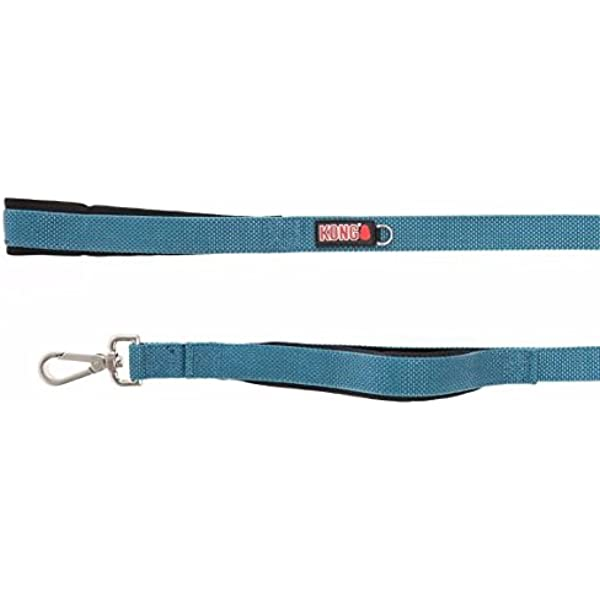 6 Ft x 1 In Green Free Leash Reflective Padded Handle Hands New Kong Comfort
