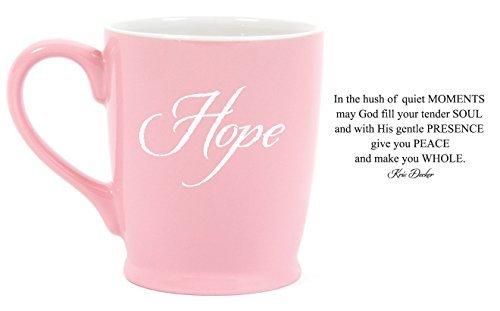 Cancer Hope Mug (Hope Pink Breast Cancer Awareness 16 oz. Stoneware Coffee Mug)
