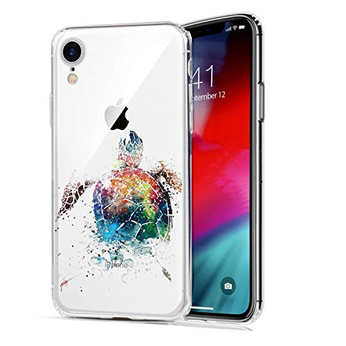 HUIYCUU Case Compatible with iPhone XR Case,Animal Sea Turtle Pattern Slim Fit Soft TPU Protective Cover Clear Design Funny Thin Cute Skin Novelty Bumper Back Case for iPhone XR 9,Painted - Totem Turtle Animal