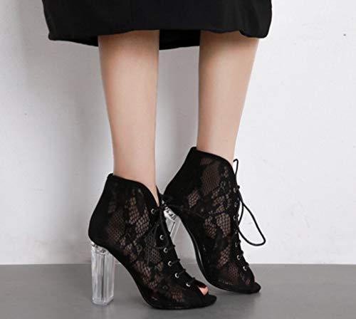 con Tacco 1 Dimensioni Shoe 39 Sposa a Alto Pizzo Tacchi in store Lacci da Alti Colore Comodi WgnZA8g