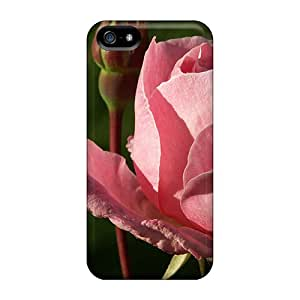 First-class Case Cover For Iphone 5/5s Dual Protection Cover The Gorgeous Pink Rose