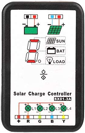 Laderegler, 6 V 12 V PWM Solar-Laderegler-Unterstützung für Lithium- und Ni-Mh-Batterien