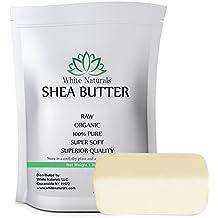 Shea Butter 1 lb Pure, Raw, Unrefined, Grade A, Ivory, Perfect Skin Moisturizer, DIY Lip Balms, Stretch Marks, Eczema, Acne, Recover Sun Damage, Kids Cream 16 oz by White Naturals