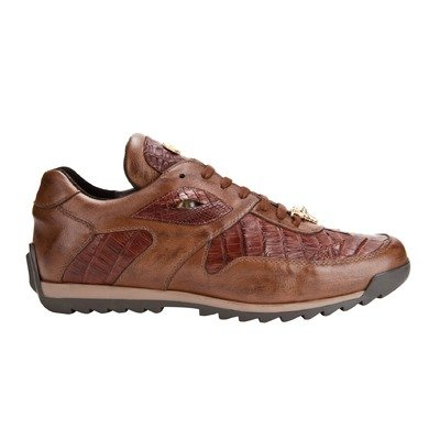 Belvedere Men's Ferro Shoes,Cognac Caiman/Calf,9 M US