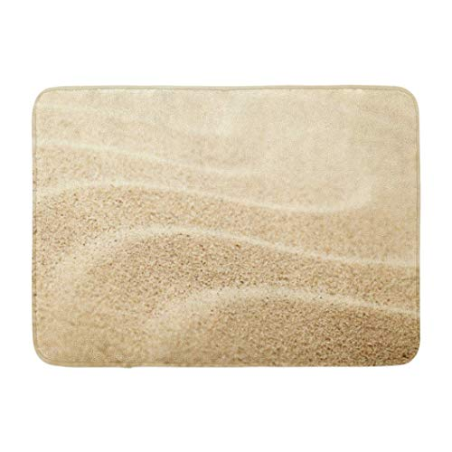 Sandy Beach Summer Sand Shot Space Desert Non-Slip Doormat Indoor Outdoor Kitchen Floor Rug Front Door Mat Funny Decor Carpet 23.6