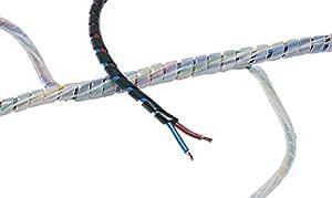 SBPE9-PE-NA-30M HellermannTyton - Manguera espiral guardacables (30 m), transparente