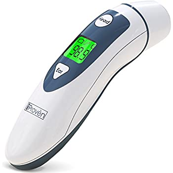 Medical Digital Ear Thermometer with Temporal Forehead Function For Baby, Infant and Kids - Upgraded Tympanic Fever Scan Lens Technology for Better Accuracy ...