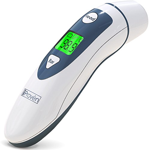 Medical Digital Ear Thermometer with Temporal Forehead Function For Baby, Infant and Kids - Upgraded Tympanic Fever Scan Lens Technology for Better Accuracy - New 2018 - Thermometers iProven (Thermometer Lens)
