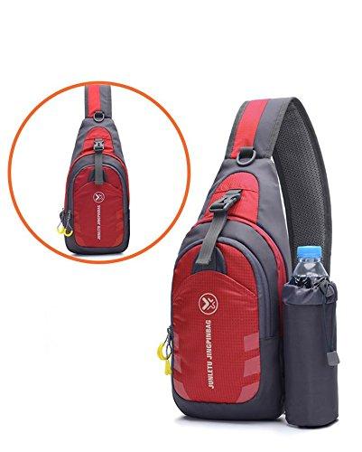 Bolsa Paquete Paseo Escalada Mochila de mensajero A roca Paño Bolsa de Corriendo blanda pecho Superficie de Movimiento en de Paquete hombro Red pecho de pie nylon zqdBOq