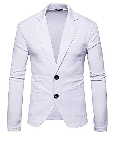 Casual Bianca Bottoni Uomo Completo Blazer Due Smoking Moderna Giacca Da Haidean Giacche XOwxCqX