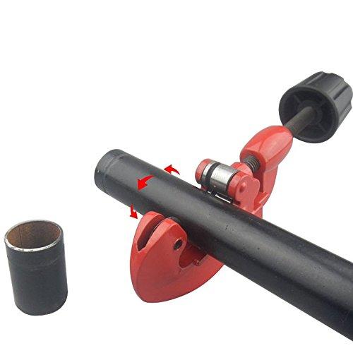 Vaorwne 3mm-28mm Tube Pipe Cutters Heavy Duty Cuts Copper Brass Aluminium Plastic Pipes,Cuts through copper brass and plastic//red aluminum thin-wall steel