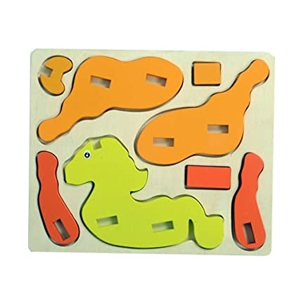 Buy 3d Wooden Puzzles Horse Channapatna Wooden Toys Safe Toy For