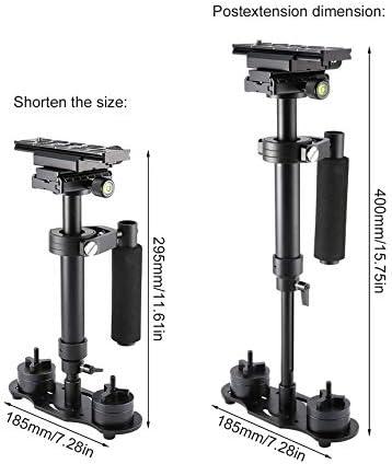 Estabilizador de Mano Gradienter port/átil Estabilizador retr/áctil de aleaci/ón de Aluminio Steadycam para videoc/ámara DV con c/ámara DSLR Negro