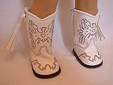 """Grey Eagle Cowgirl Western Boots Fits 18/"""" American Girl Doll Clothes Shoes"""