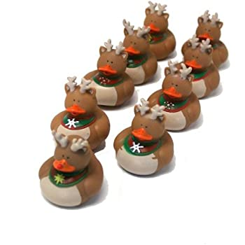 Amazon.com : Christmas Holiday Rubber Ducky - 12 Count : Bathtub ...