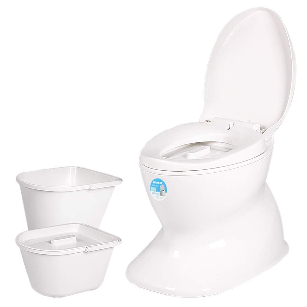 Tragbares Anti-Rutsch-WC-Simulation Keramik Schwangere Frauen äLtere Abnehmbare Toilette Dichtung Deodorant Doppelfass Design