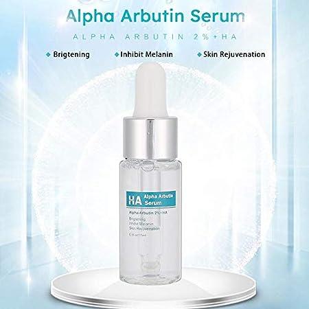 Suero de arbutina de 15 ml, suero para blanquear la cara, suero hidratante para la cara, reduce y desvanece las manchas, y aclara el color de la piel, para todo tipo de piel