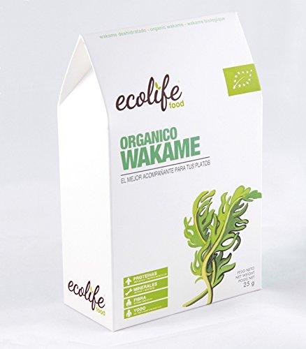 algas wakame - presentacion en paquete blanco