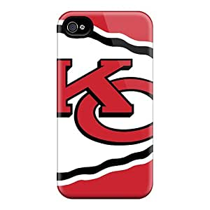 Durable Case For The Iphone 4/4s- Eco-friendly Retail Packaging(kansas City Chiefs)