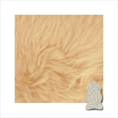 Bowron One Pelt Gold Star Rug by Bowron