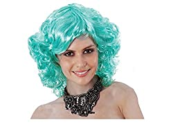 Royal-First Short Curly Wavy Cosplay Party Wig For Women+Free Wig Cap (light blonde)