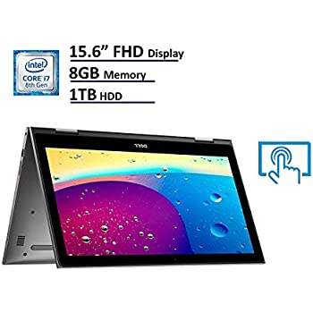 Dell Inspiron 5579 FHD (1920 x 1080) 2-in-1 TOUCH Screen Laptop / Tablet (Intel 8th Generation Quad Core i7-8550U, 8GB DDR4 Ram, 1TB HDD, Camera, WIFI, HDMI) Windows 10 (Certified Refurbished)