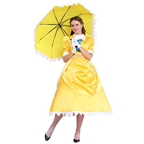 CosplayDiy Women's Fairy Tale Princess Costume Dress Yellow S ()