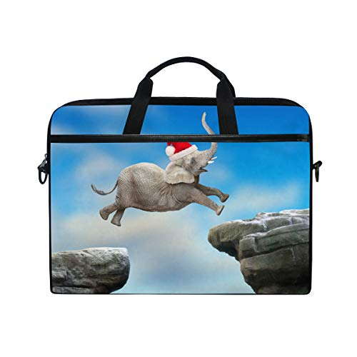 Laptop Case, Big Elephant Jumping Pattern Computer Sleeve Protective Bag 3 Layer with Durable Zipper for Lenovo Hp MacBook Pro Neoprene Notebook 14 15 15.4 inch