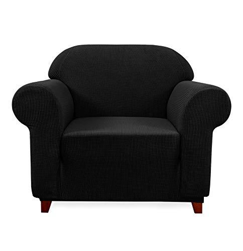 dex Stretch Sofa Slipcover (Chair, Black) ()