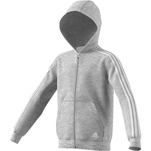 Adidas Felpa nbsp;strisce Medio Bianco 3 Grigio Cappuccio Con Essentials OwUr1qpO